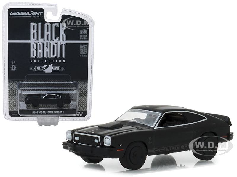 1976_Ford_Mustang_II_Cobra_II_Black_Bandit_Series_20_164_Diecast_Model_Car_by_Greenlight