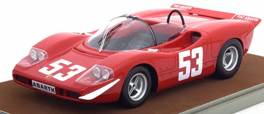Abarth 2000 S 1969 Winner Nurburgring Toine Hazemans Limited Edition to 100pcs 1/18 Model Car by Tecnomodel TM18-58A