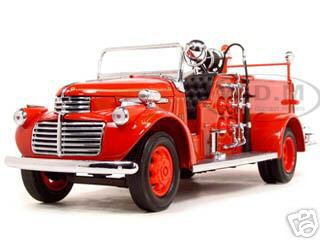 1941_GMC_Fire_Engine_Red_with_Accessories_124_Diecast_Model_Car_by_Road_Signature