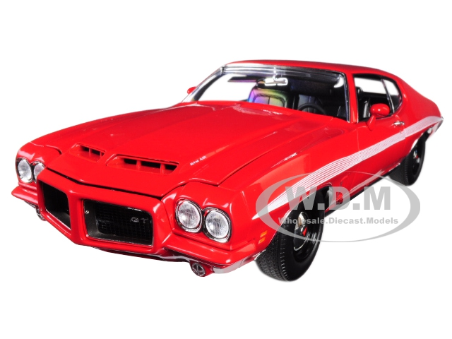 1972 Pontiac Lemans Gto Cardinal Red With White Stripes Limited Edition To 384 Pieces Worldwide 1/18 Diecast Model Car By Acme