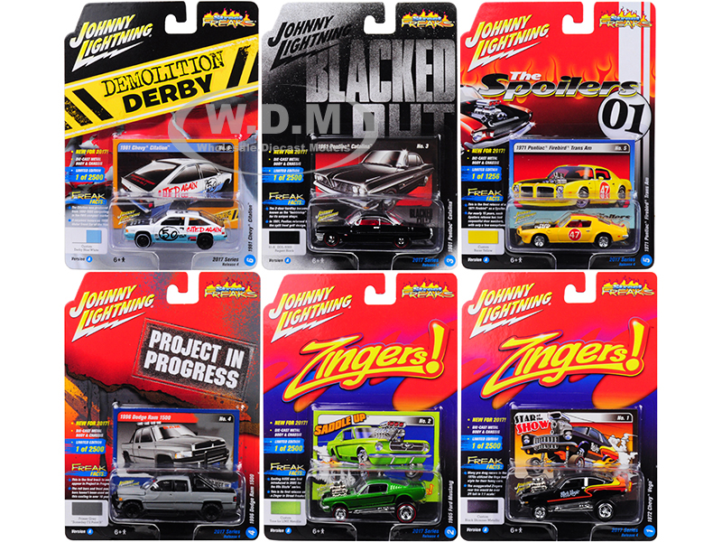Street_Freaks_2017_Release_4A_Set_of_6_cars_164_Diecast_Model_Cars_by_Johnny_Lightning