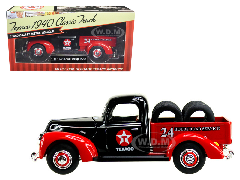 1940 Ford Pickup Truck Texaco With Tires 1/32 Diecast Model Car By Beyond The Infinity