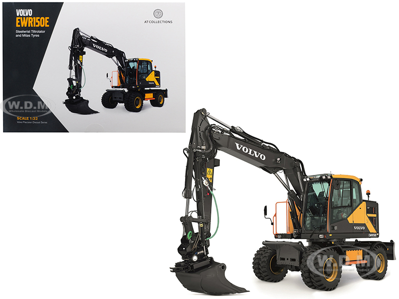 Volvo Ewr150e Excavator With Steelwrist Tiltrotator And Mitas Twin Tires 1/32 Diecast Model By At Collections