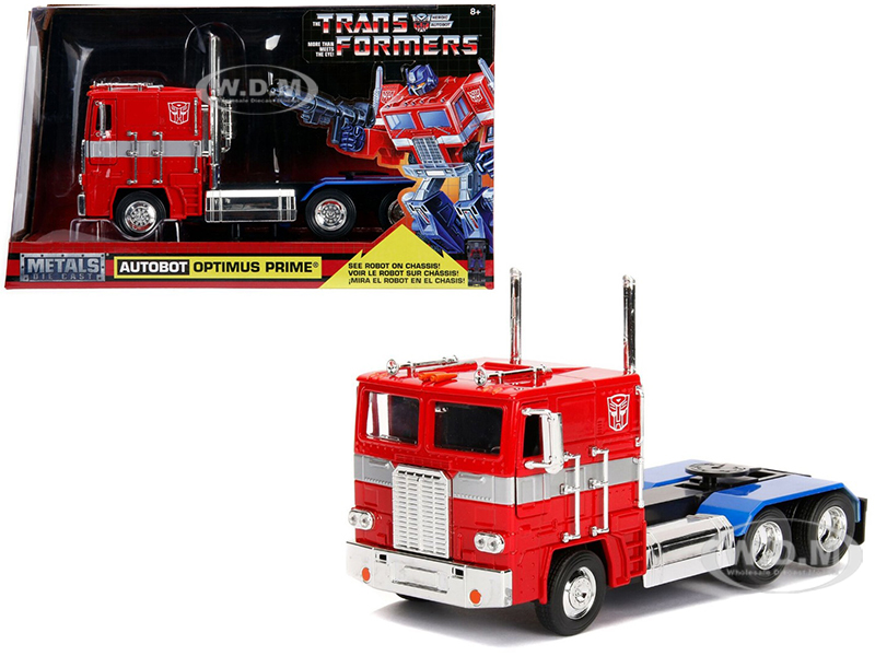 G1 Autobot Optimus Prime Truck Red with Robot on Chassis from