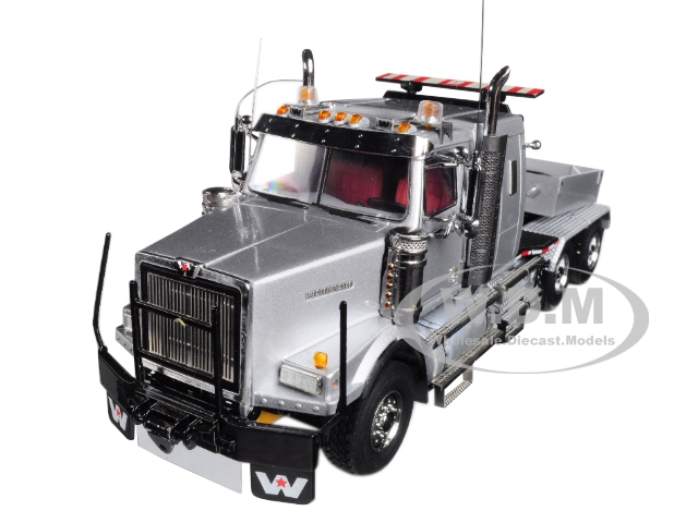 Western Star 4900 Tractor Cab with Ballast Box 6x4 Silver 1/50 Diecast Model by WSI Models