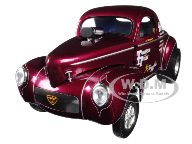 1941 Gasser Jr. Thompson And Poole Burgundy Limited Edition To 600 Pieces Worldwide 1/18 Diecast Model Car By Acme