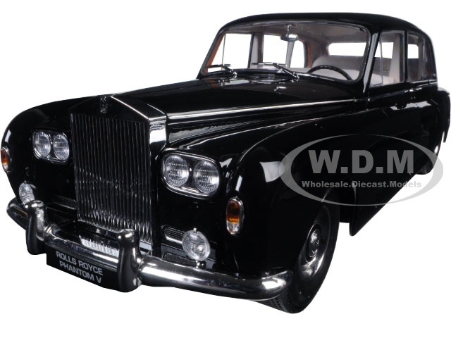 1964 Rolls Royce Phantom V MPW Black 1/18 Diecast Model Car by Paragon (98213bk) photo