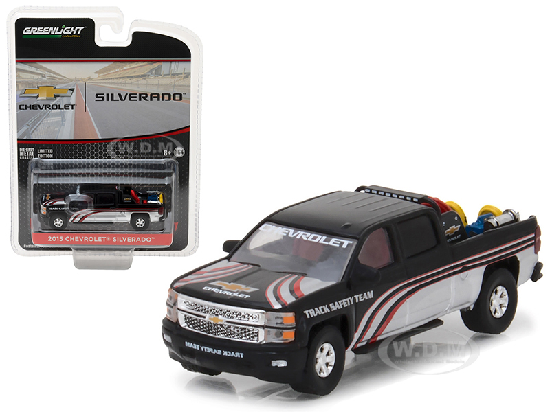 "2015 Chevrolet Silverado Pickup Truck with Safety Equipment Hobby Exclusive"" 1/64 Diecast Model Car by Greenlight 29896"
