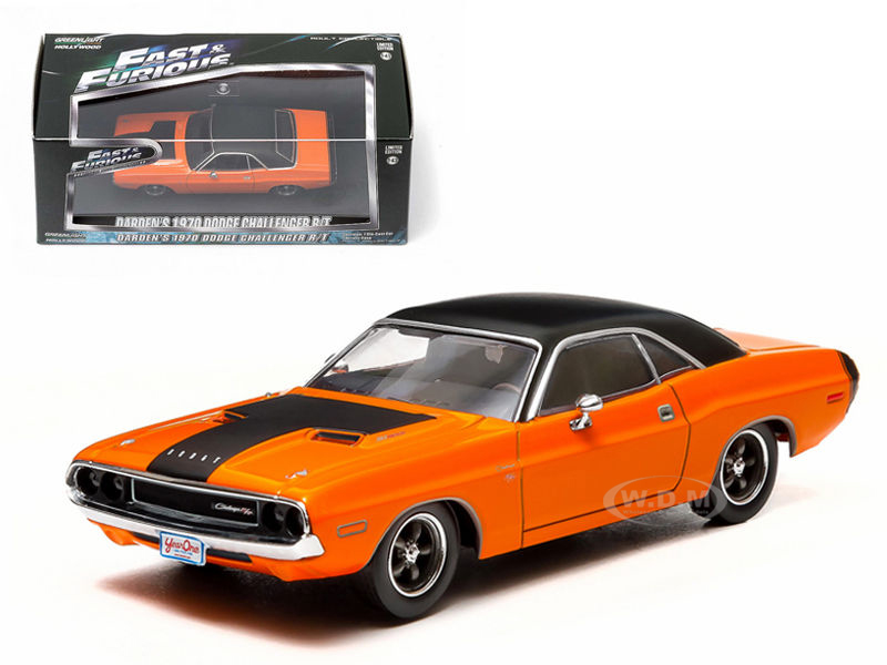Dardens 1970 Dodge Challenger R/T 2 Fast 2 Furious Movie (2003) 1/43 Diecast Car Model by Greenlight 86207