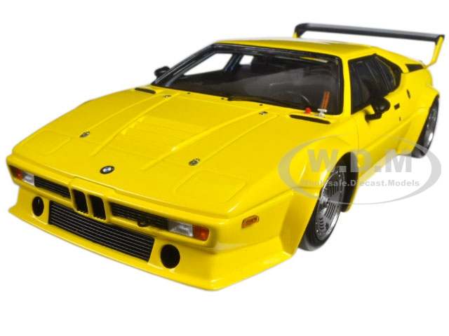 1979 BMW M1 Procar Plain Body Version Yellow Limited Edition to 300pcs 1/18 Diecast Model Car by Minichamps