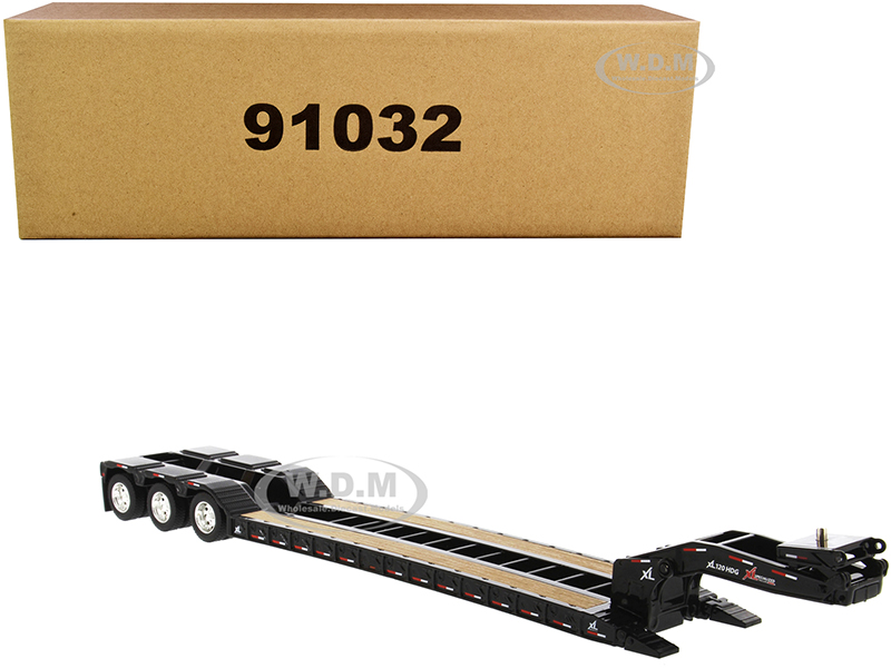 """XL 120 Low-Profile HDG Trailer with 2 Boosters """"Transport Series"""" 1/50 Diecast Model by Diecast Masters"""