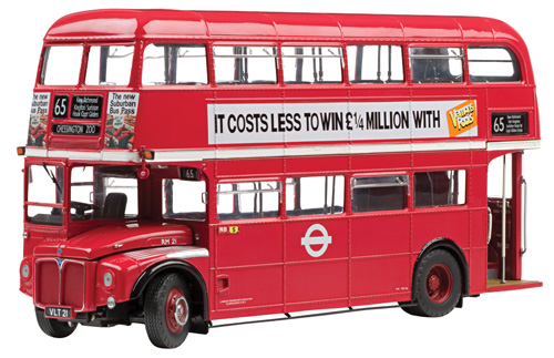 1958 Routemaster Double Decker Bus RM21-VLT 21 The GLC Years Red Limited Edition to 1999pcs 1/24 Diecast Model  by Sunstar