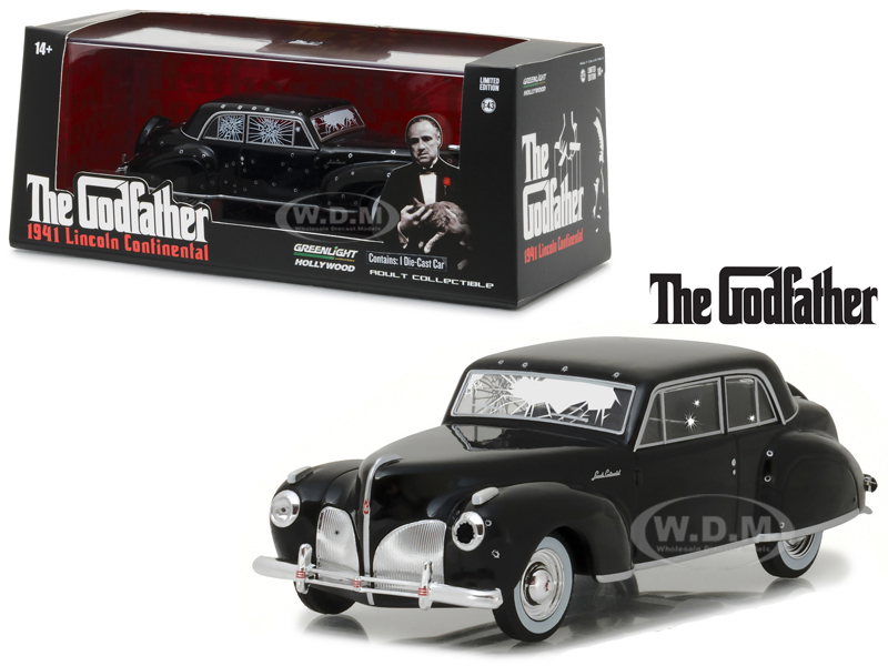 1941 Lincoln Continental Black with Bullet Damage