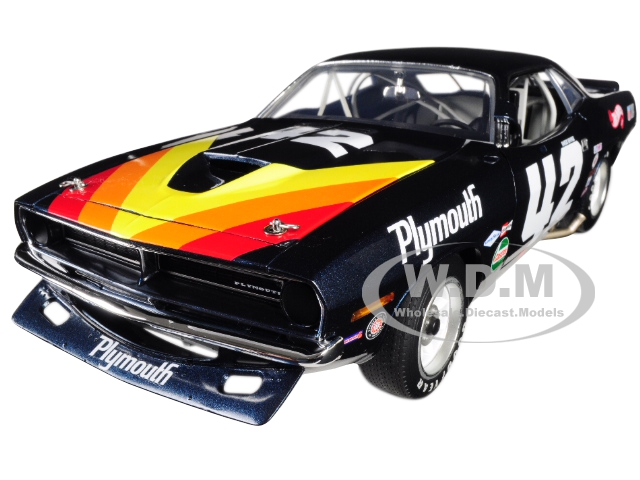 "1970 Plymouth Barracuda Trans Am 42 ""swede Savage"" Limited Edition To 696 Pieces Worldwide 1/18 Diecast Model Car By Acme"