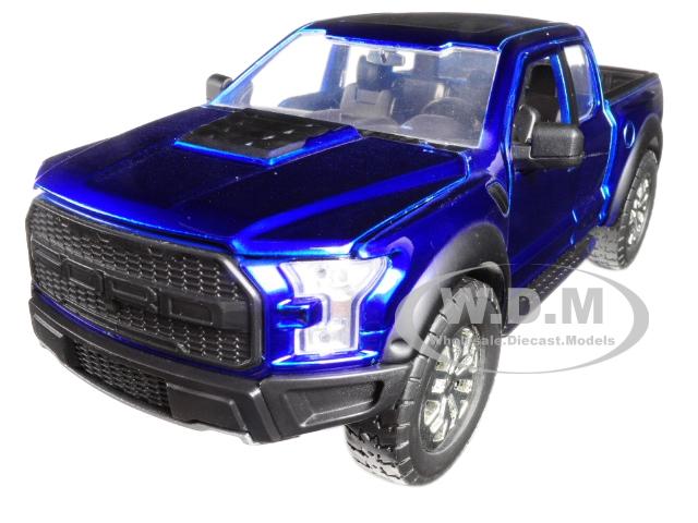 2017 Ford F-150 Raptor Pickup Truck Blue 1|24 Diecast Model Car by Jada