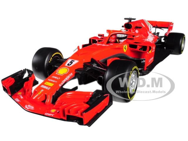 Ferrari Racing Sf71h Formula 1 #5 Sebastian Vettel 1/18 Diecast Model Car By Bburago