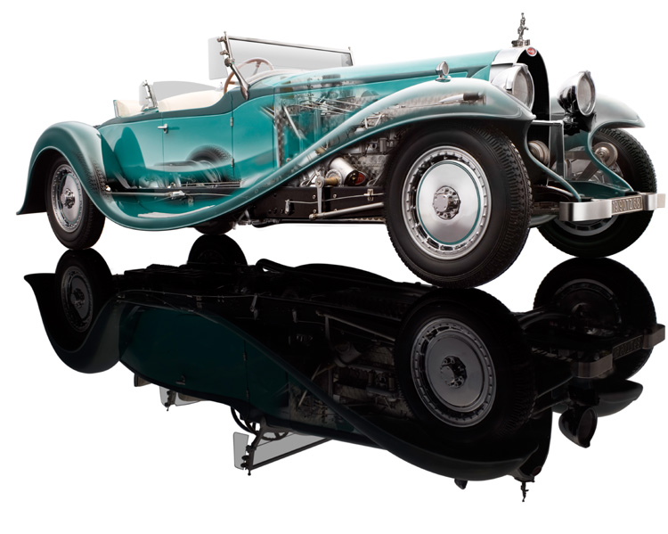 1932 Bugatti Royale Esders Roadster Chassis 41.111 Green 1/18 Diecast Model Car By Bauer