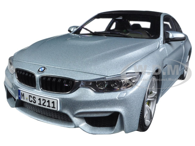BMW M4 Coupe Silver 1/18 Diecast Model Car by Paragon (97102) photo