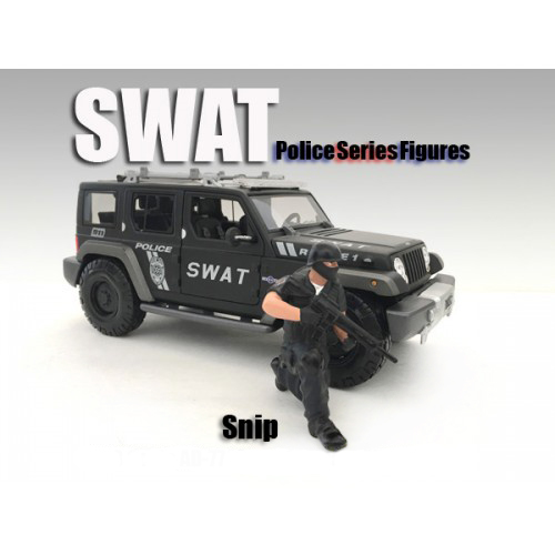 Swat Team Snip Figure For 1:18 Scale Models By American Diorama