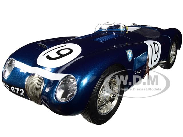 "Jaguar C-Type 19 Ian Stewart / Ninian Sandersson ""Ecurie Ecosse"" Goodwood Members Meeting (1954) Limited Edition to 1500 pieces Worldwide 1/18 Diecas"