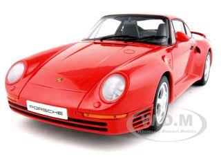 Porsche 959 Red 1/18 Diecast Model Car by Autoart