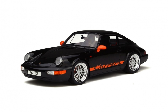 Porsche 911 (964) Carrera RS Black Limited Edition to 1500pcs 1/18 Model Car by GT Spirit
