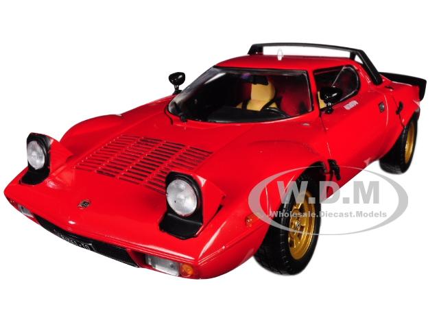1975 Lancia Stratos Stradale Red 1/18 Diecast