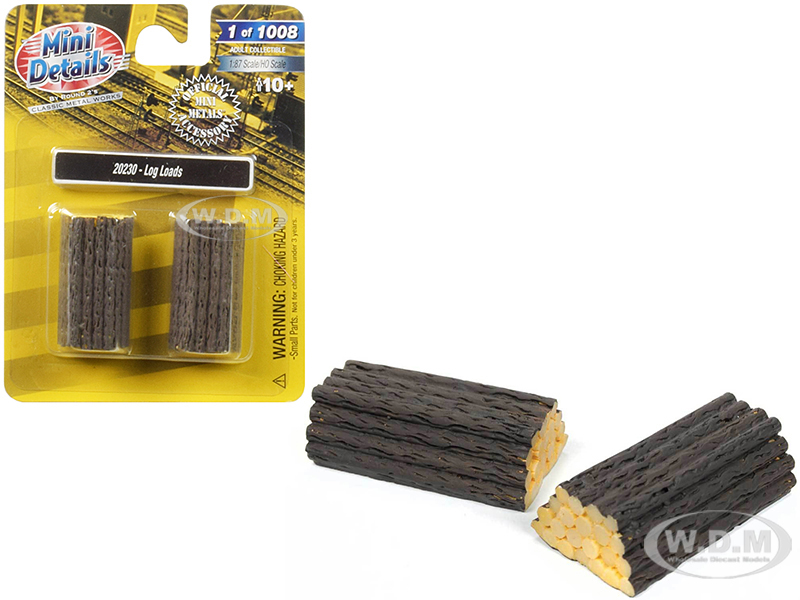 Log_Loads_2_piece_Accessory_Set_187_HO_Scale_by_Classic_Metal_Works