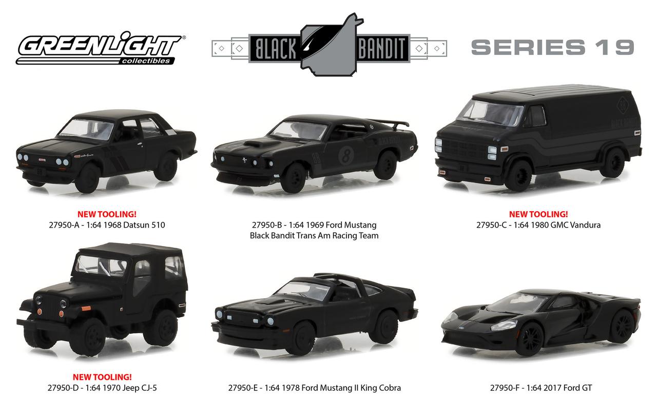 Black_Bandit_Series_19_6pc_Set_164_Diecast_Models_by_Greenlight