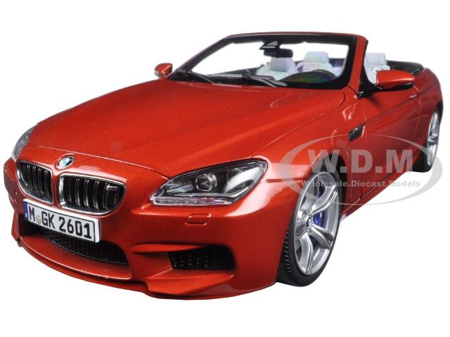 BMW M6 F12M Convertible Sakhir Orange 1/18 Diecast Model Car by Paragon (97063) photo