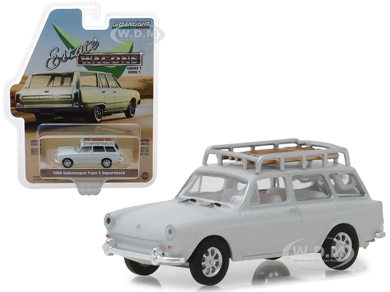 1968 Volkswagen Type 3 Squareback Lotus White with Roof Rack