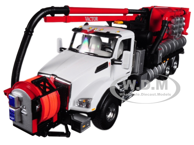 Kenworth T880 with Vactor 2100 Plus PD Combination Sewer Cleaner 1/50 Diecast Model by First Gear