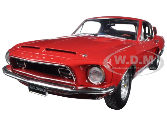 1968 Ford Shelby Mustang GT 350 Red  WT Color Code 4017 Release 4 Limited Edition to 462pcs 1/18 Diecast Model Car by Acme