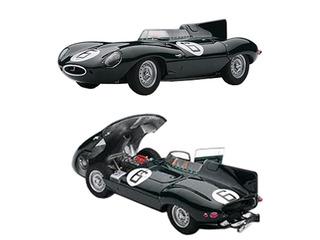 Jaguar D-Type 6 1955 24hr Le Mans Winner w/Openings J.M.Hawthorn / I.L.Bueb 1/43 Diecast Model Car by Autoart