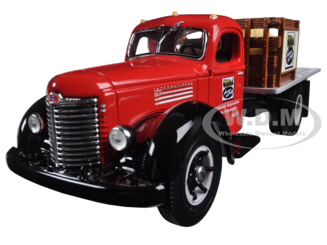 International KB-8 Stake Truck with Tarp Load Napa Auto Parts 1/34 Diecast Model by First Gear
