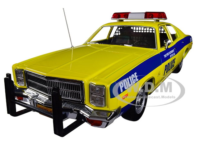 1977_Plymouth_Fury_The_Port_Authority_Of_New_York_and_New_Jersey_Police_Yellow_with_Blue_Stripes_118_Diecast_Model_Car_by_Greenlight