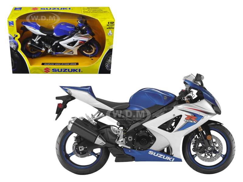 2008 Suzuki GSX-R1000 Blue Bike Motorcycle 1/12 by New Ray NR57003a