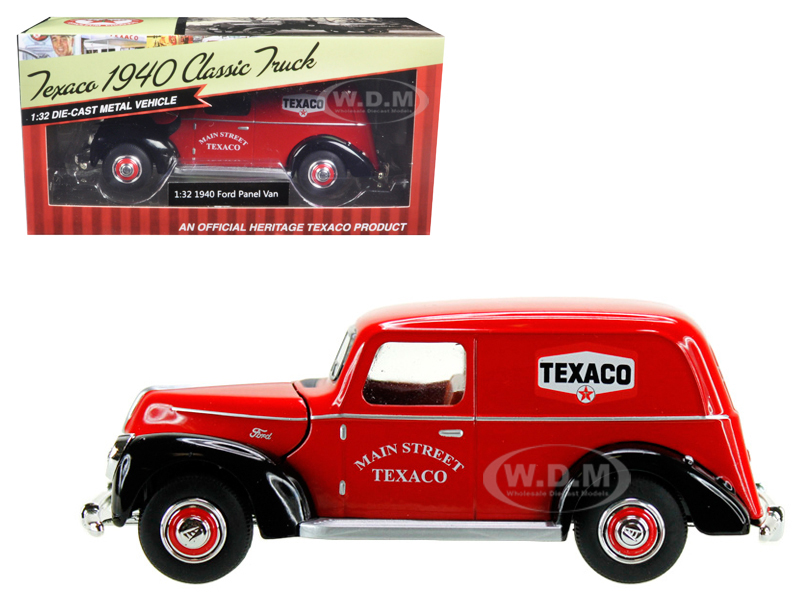 1940 Ford Panel Van Texaco Red 1/32 Diecast Model Car By Beyond Infinity