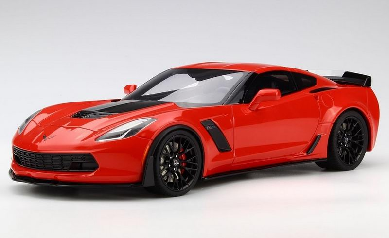 """""""2017 Chevrolet Corvette Z06 Torch Red 1/18 Model Car by GT Spirit for ACME Photo - Gifts For Boys"""