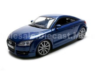 """""""2007 Audi TT Blue 1/18 Diecast Car Model by Motormax Photo - Gifts For Boys"""