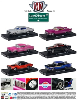 Auto Drivers Collection Series 15 6pc Set 1/64 Diecast Car Models by M2 Machines