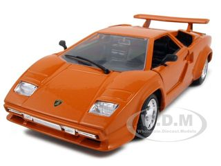 Lamborghini Countach 5000 Orange 1/24 Diecast Model Car by Bburago