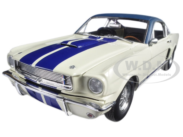 1966 Ford Shelby Mustang G.T. 350 White with Vinyl Top 1 of 1 Pre Production Prototype Limited Edition to 564pcs 1/18 Diecast Model Car by Acme A1801818