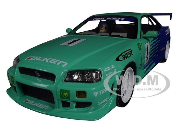 1999_Nissan_Skyline_GTR_BNR34_1_Falken_Tires_118_Diecast_Model_Car_by_Greenlight