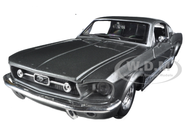 """1967 Ford Mustang GT Grey 1/24 Diecast Model Car by Maisto Photo - Gifts For Boys"