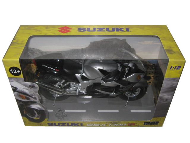Suzuki Gsx 1300 R Silver/black Motorcycle Model 1/12 By Automaxx