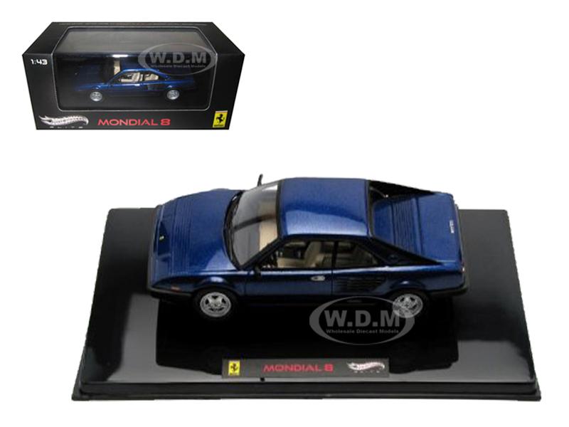 Ferrari Mondial 8 Blue Elite Edition Limited Edition 1 of 5000 Produced Worldwide 1/43 Diecast Model Car by Hotwheels