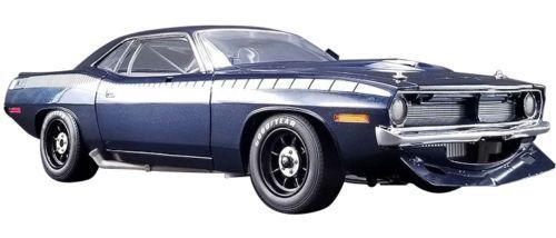 1970 Plymouth Trans Am Cuda Street Version Limited Edition to 510 pieces Worldwide 1/18 Diecast Model Car by Acme A1806101B