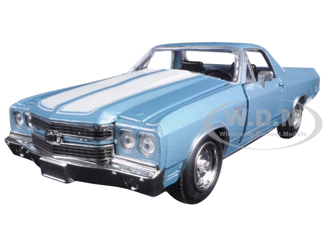 1970 Chevrolet El Camino SS Blue 1/24 Diecast Model Car by New Ray 71885bl