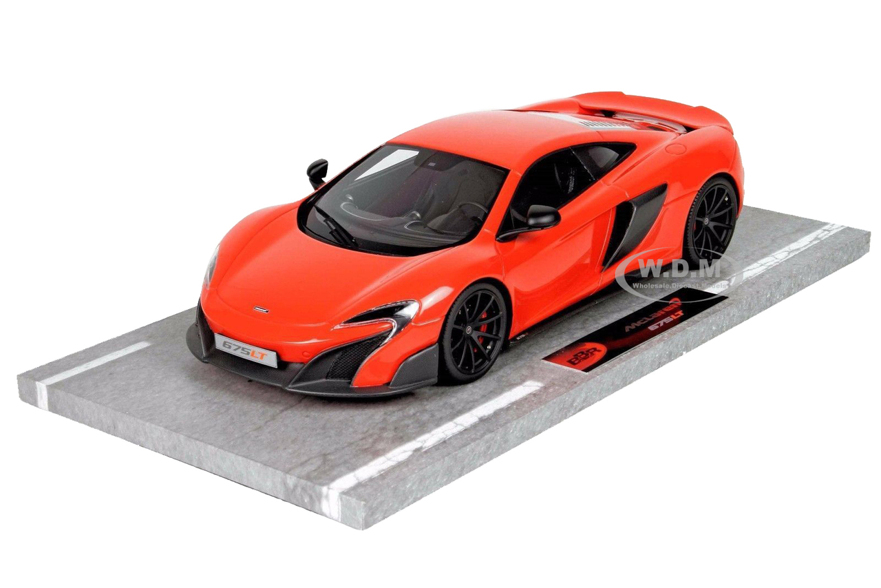 Mclaren 675lt Long Tail Delta Red Numbered Limited Edition To 92 Pieces Worldwide 1/18 Model Car By Bbr